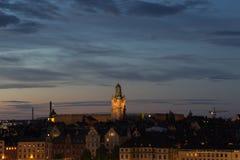 Vista de la iglesia de San Nicolás Estocolmo suecia 30 07 2016 Imagenes de archivo