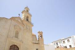 Vista de la iglesia en Antequera Imagen de archivo