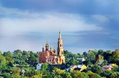 Vista de la iglesia rusa Foto de archivo libre de regalías