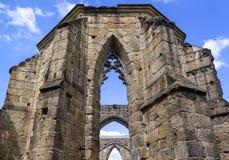 Vista de la iglesia vieja de las Edades Medias Imagen de archivo