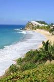 Vista de la isla Antigua Imágenes de archivo libres de regalías