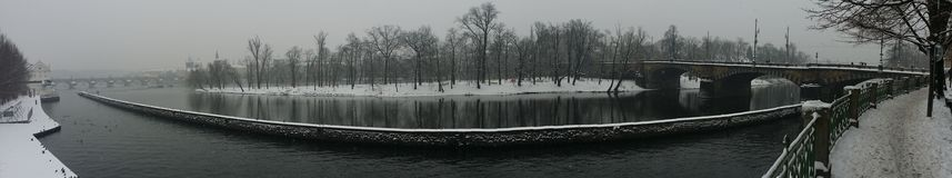 Vista de la isla de Kampa, Praga Imagen de archivo libre de regalías