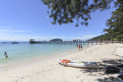 Vista de la isla de Manukan, Sabah, Malasia foto de archivo