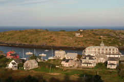 Vista de la isla de Monhegan Imagen de archivo