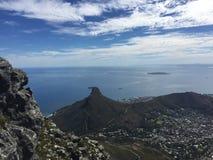 Vista de la isla de Robben Imagen de archivo