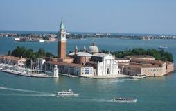 Vista de la isla de San Giorgio Maggiore en Venecia Imagen de archivo