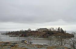 Vista de la isla Harakka en la capital finlandesa Helsinki Imagen de archivo