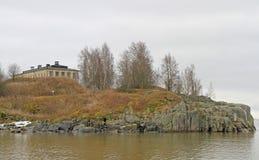 Vista de la isla Harakka en la capital finlandesa Helsinki Fotografía de archivo libre de regalías