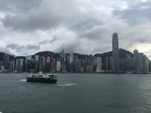 Vista de la isla de Hong Kong fotos de archivo