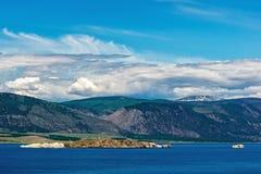 Vista de la isla Oltrek Imágenes de archivo libres de regalías