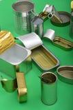 Vista de la lata aislada en verde fotografía de archivo libre de regalías