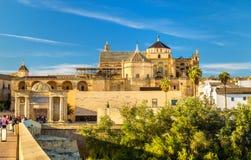 Vista de la Mezquita-catedral en Córdoba, España Foto de archivo libre de regalías