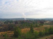 Vista de la mina de Falun Imagenes de archivo