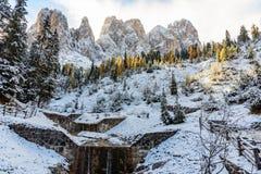Vista de la montaña del odle Fotos de archivo libres de regalías