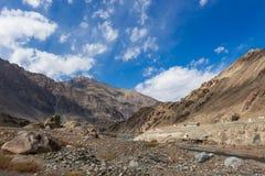 Vista de la montaña en Leh Fotografía de archivo libre de regalías
