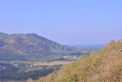 Vista de la montaña máxima del viaje Imagen de archivo