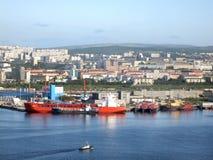 Vista de la Murmansk Imagenes de archivo