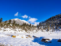 Vista de la nieve de la montaña en Sichuan Fotos de archivo