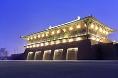 Vista de la noche del palacio de Daming Foto de archivo libre de regalías