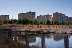 Vista de la nueva ciudad Imagen de archivo libre de regalías