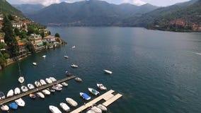 Vista de la orilla de la bahía en Italia metrajes