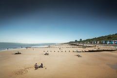 Vista de la orilla del mar de Frinton fotos de archivo libres de regalías