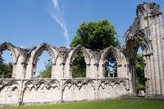 Vista de la pared vieja en York, Reino Unido Fotos de archivo libres de regalías
