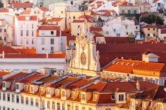 Vista de la parte central Lisboa desde arriba, Portugal Fotos de archivo