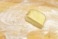 Vista de la pasta hecha en casa Foto de archivo libre de regalías