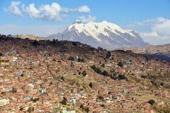 Vista de La Paz, Bolivia imagen de archivo libre de regalías