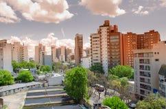 Vista de la pequeña ciudad Imagen de archivo