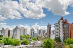 Vista de la pequeña ciudad Fotografía de archivo libre de regalías