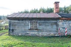 Vista de la pequeña ciudad rural de Ligatne, Letonia Imágenes de archivo libres de regalías