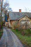 Vista de la pequeña ciudad rural de Ligatne, Letonia Fotografía de archivo libre de regalías