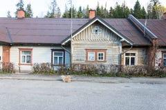 Vista de la pequeña ciudad rural de Ligatne, Letonia Imagen de archivo libre de regalías