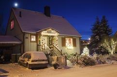 Vista de la pequeña ciudad sueca Fotos de archivo