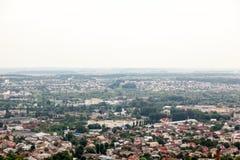Vista de la pequeña ciudad vieja Lviv Fotografía de archivo