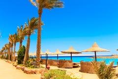 Vista de la playa Imágenes de archivo libres de regalías