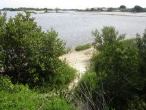 Vista de la playa fotografía de archivo