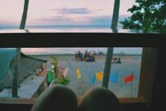 Vista de la playa Fotos de archivo