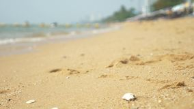 Vista de la playa asi?tica urbana, terrapl?n 4K Falta de definici?n, fondo metrajes