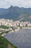 Vista de la playa Botafogo Fotografía de archivo libre de regalías