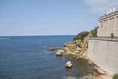 Vista de la playa de Cala Petrolo imagen de archivo