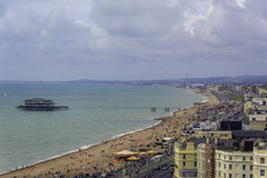 Vista de la playa de Brighton Imágenes de archivo libres de regalías