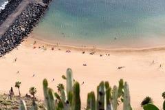 Vista de la playa de Las Teresitas Imágenes de archivo libres de regalías