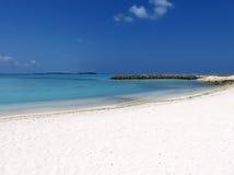 Vista de la playa del bikini Fotos de archivo libres de regalías