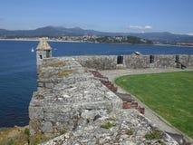 Vista de la playa del castillo Imagen de archivo