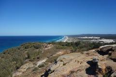 Vista de la playa del este de la isla de Moreton Foto de archivo libre de regalías