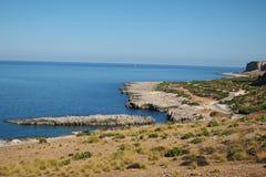 Vista de la playa del isulidda fotografía de archivo