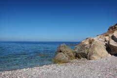 Vista de la playa del isulidda imagen de archivo